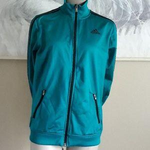 Adidas Full zip track Jacket size L, zip pockets